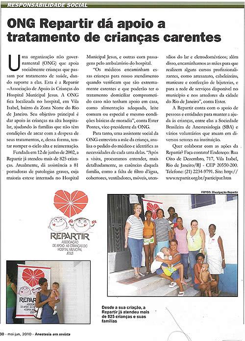 Revista da Sociedade Brasileira de Anestesiologia (maio-junho-2010)